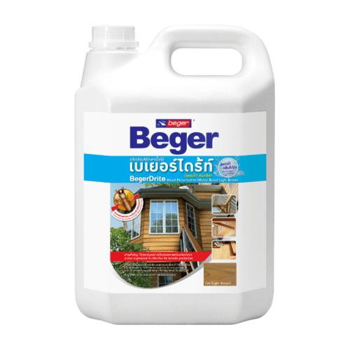 Beger ผลิตภัณฑ์รักษาเนื้อไม้ เบเยอร์ไดร้ท์  ชนิดทา สูตรน้ำ สีชา 4LT.