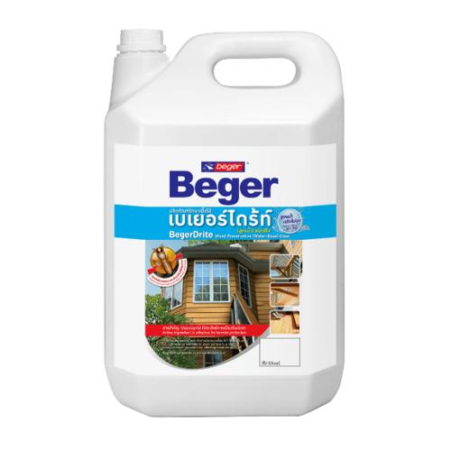 Beger ผลิตภัณฑ์รักษาเนื้อไม้ เบเยอร์ไดร้ท์ ชนิดทา สูตรน้ำ สีน้ำตาลดำ 4LT.