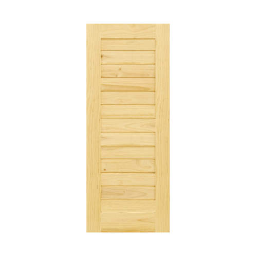 D2D ประตูไม้สนนิวซีแลนด์ ขนาด70x180cm.  Eco Pine-001