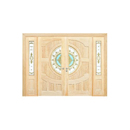 D2D ประตูไม้สนนิวซีแลนด์ SET 3 ขนาด  90x200cm.  D2D-417