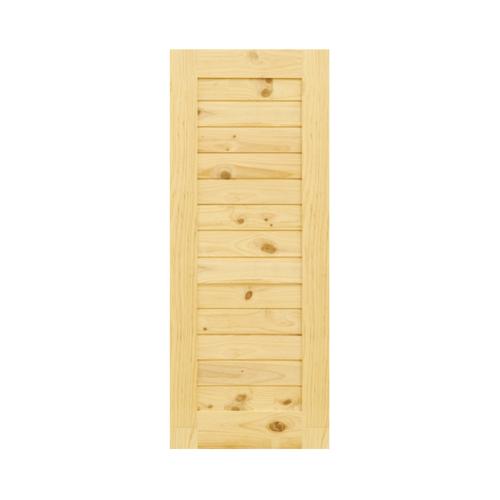 D2D ประตูไม้สนนิวซีแลนด์ ขนาด 110x200cm.  Eco Pine -001
