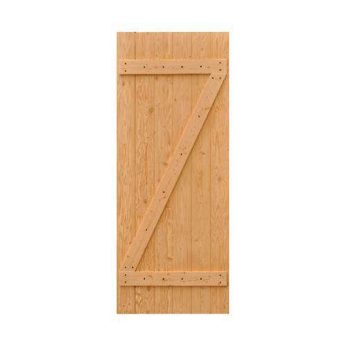 D2D ประตูไม้ดักลาสเฟอร์บานทึบทำร่อง ขนาด 75x200cm.  Eco Pine -55