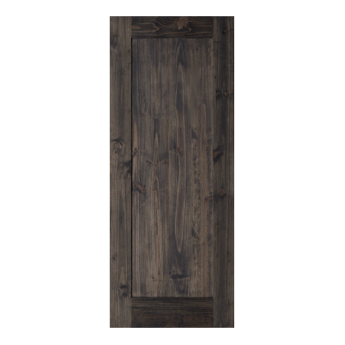 D2D ประตูไม้สนนิวซีแลนด์ บานทึบเรียบ 80x200ซม.   Eco Pine -11 สีแบล็คแอช