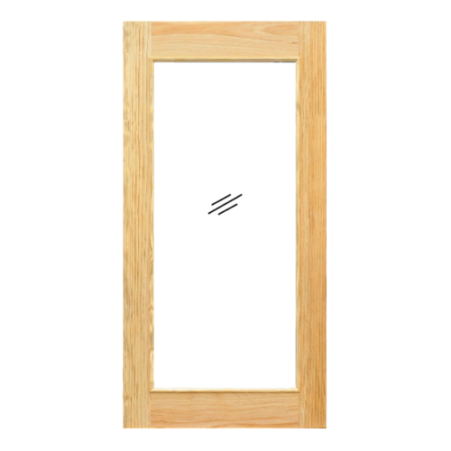 D2D  ประตูไม้ดักลาสเฟอร์ บานเรียบพร้อมกระจกเต็มบาน  100x220ซม. 419