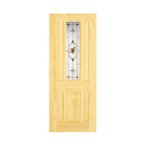 D2D ประตูไม้สนนิวซีแลนด์ ขนาด 90x200 cm. Eco Pine-028