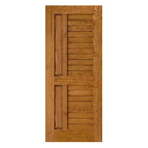 D2D ประตูไม้ดักลาสเฟอร์ บานทึบทำร่อง ขนาด96 x 230cm.   Eco Ezero-007สีเชสนัท