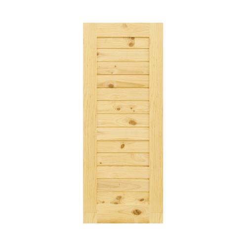 D2D ประตูไม้สนนิวซีแลนด์ บานทึบทำร่อง ขนาด 120x210cm.  Eco Pine-001