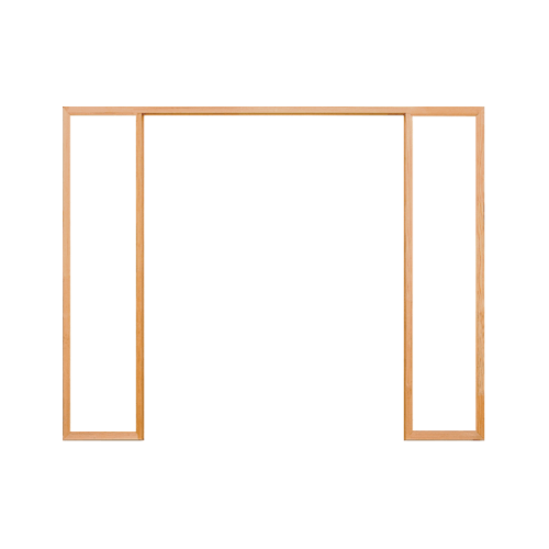 D2D วงกบประตูไม้ดักลาสเฟอร์ ขนาด180x220 cm.  FJ