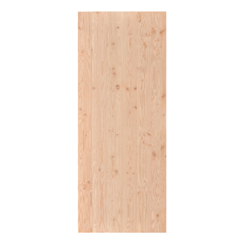 D2D  ประตูไม้ดักลาสเฟอร์ บานทึบเรียบขนาด 80x200ซม. Eco Pine-88