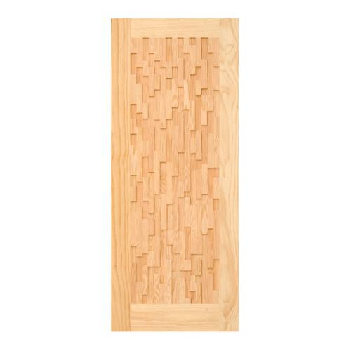 D2D ประตูไม้สนNz บานทึบทำร่อง  80x205cm.  D2D- 505