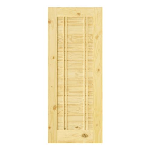 D2D ประตูไม้สนนิวซีแลนด์ บานทึบทำร่อง 80x180cm. Eco-Ezero 6