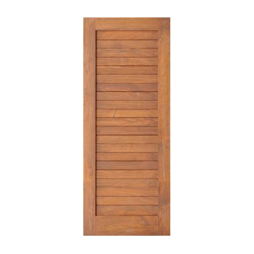 D2D ประตูไม้ดักลาสเฟอร์ บานทึบทำร่อง ขนาด90x200cm. Eco Ezero-3 สีเบรินแอช