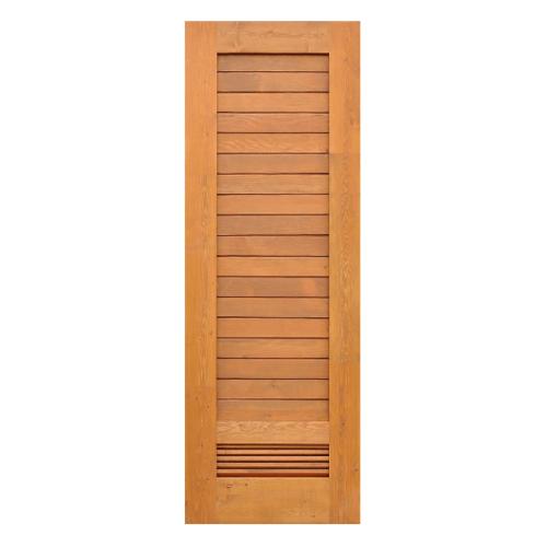 D2D  ประตูไม้ดักลาสเฟอร์ ทำร่องพร้อมเกล็ดระบายอากาศ  ขนาด 70x200ซม.  Eco Ezero 20  สีเบรินแอช