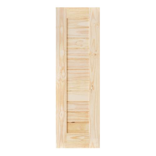 D2D ประตูไม้สนนิวซีแลนด์ บานทึบทำร่อง ขนาด 60x200cm.   Eco Pine-001