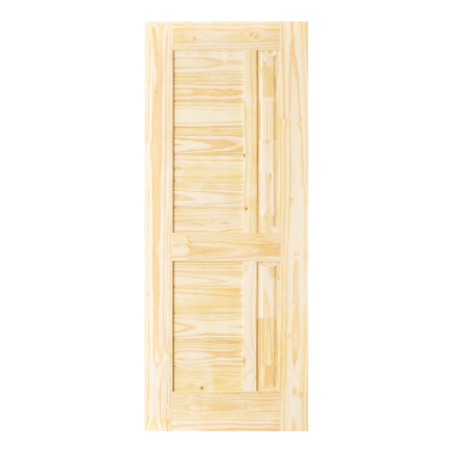 D2D ประตูไม้สนนิวซีแลนด์ บานทึบลูกฟักทำร่อง ขนาด 70x180cm  Eco Pine-007
