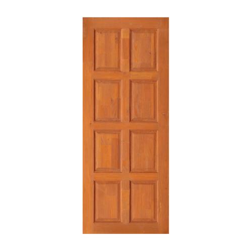 D2D ประตูไม้ดักลาสเฟอร์ บานทึบ 8ฟัก ขนาด  90x200ซม.  Eco Pine-22  สีเบรินแอช