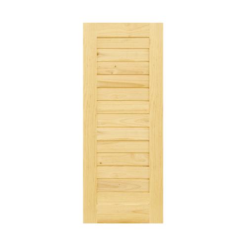 D2D ประตูไม้สนนิวซีแลนด์ บานทึบทำร่อง ขนาด  80x160cm.  Eco Pine-001