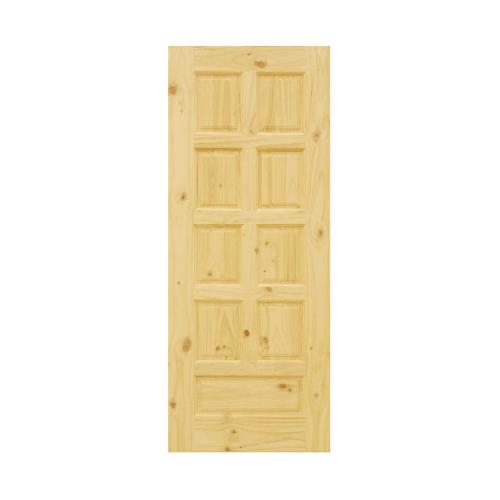 D2D  ประตูไม้สนนิวซีแลนด์ บานทึบ 9ลูกฟัก ขนาด 80x230 ซม.  Eco Pine-002