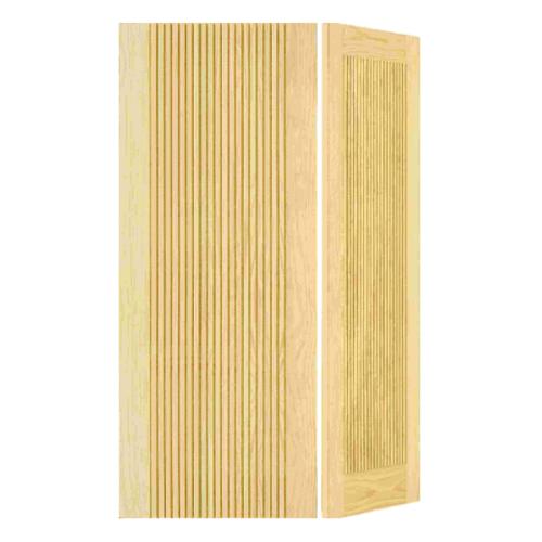 D2D ประตูไม้สนนิวซีแลนด์บานทึบทำร่อง  ขนาด 100x200cm.   D2D-510