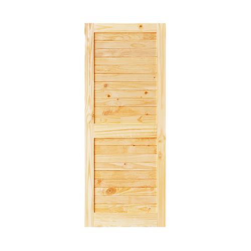 D2D ประตูไม้สนNz บานทึบทำร่องขนาด  70x200ซม. Eco Ezero26