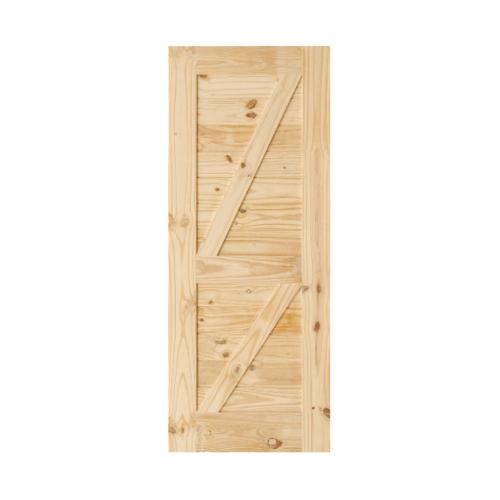 D2D  ประตูไม้สนNz บานทีบเซาะร่อง(โรงนา) ขนาด 100x190ซม.  Eco Pine-77