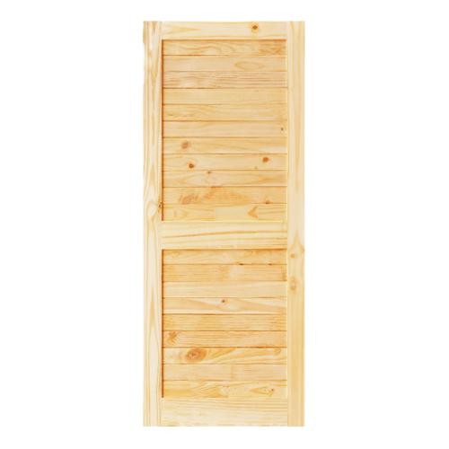 D2D  ประตูไม้สนNz บานทึบทำร่อง ขนาด 80x200ซม..  Eco Ezero26
