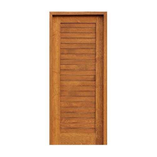 D2D  ประตูไม้ดักลาสเฟอร์ บานทึบทำร่อง ขนาด 80x200cm.  SET 1 Eco Ezero-3 สีเบรินแอช