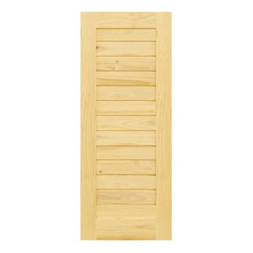 D2D ประตูไม้สนนิวซีแลนด์ บานทึบทำร่อง ขนาด 80x203ซม.  Eco Pine-001