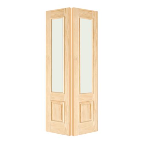 D2D ช่องแสงข้างไม้สนNz ลูกฟักพร้อมกระจก 40x220cm.  SL-002