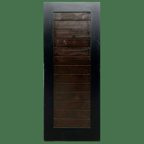 D2D ประตูไม้สนนิวซีแลนด์ บานทึบทำร่อง ขนาด 80x200ซม.  Eco Ezero29  MOCHA