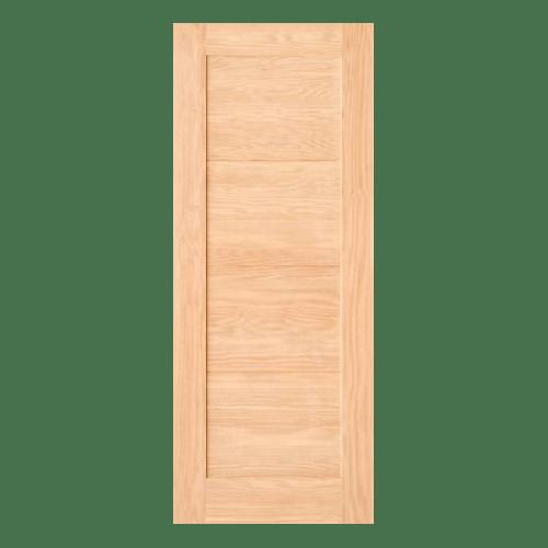 D2D ประตูไม้ดักลาสเฟอร์ บานทีบเซาะร่อง ขนาด 80x220cm.  Eco Pine-047