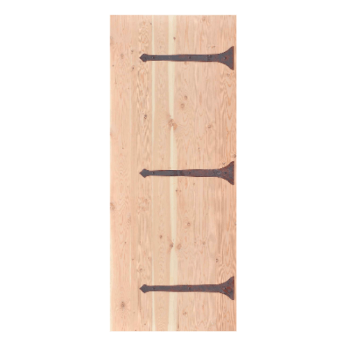 D2D ประตูไม้ดักลาสเฟอร์ บานทึบเซาะร่อง(โรงนา)ขนาด  100 x 200 ซม. Eco Pine-222
