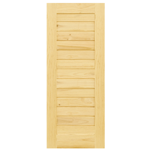 D2D ประตูไม้สนนิวซีแลนด์ บานทึบทำร่อง ขนาด 120x197ซม. Eco Pine-001  ไม้ธรรมชาติ