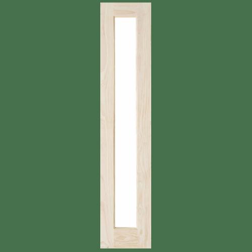 D2D ประตูไม้สนนิวซีแลนด์ ลูกฟักพร้อมกระจก ขนาด 65x240ซม. SL-001 ไม้ธรรมชาติ
