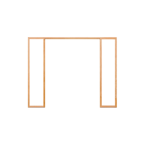 D2D วงกบประตูไม้ดักลาสเฟอร์ ขนาด 120x240 ซม. D2D-FJ COM.6 ไม้ธรรมชาติ