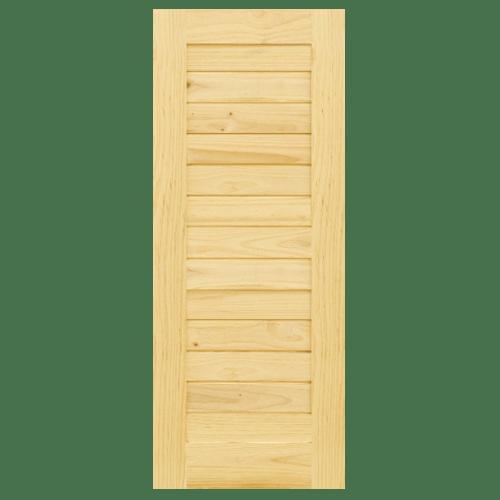 D2D ประตูไม้สนนิวซีแลนด์ บานทึบทำร่อง ขนาด  110x200ซม. Eco Pine-001