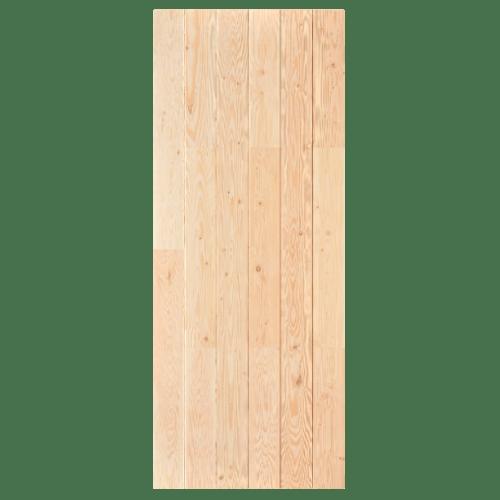 D2D ประตูไม้ดักลาสเฟอร์ บานทึบทำร่อง ขนาด  90x215cm. Eco Pine-060 ไม้ธรรมชาติ