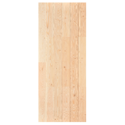 D2D ประตูไม้ดักลาสเฟอร์ บานทึบทำร่อง ขนาด 73.3x196.5cm.  Eco Pine-060  ไม้ธรรมชาติ