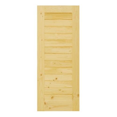 D2D ประตูไม้สนนิวซีแลนด์ ขนาด  80x170 cm. D2D-103