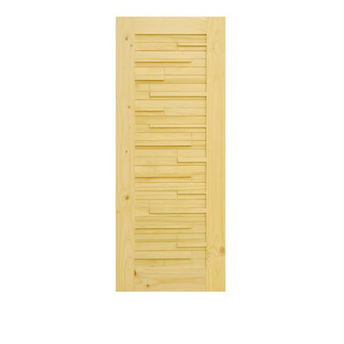 D2D ประตูไม้สนนิวซีแลนด์ ขนาด 80x200 cm. D2D-112