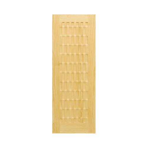 D2D ประตู ไม้สนนิวซีแลนด์ ขนาด90x220cm.  D2D-506