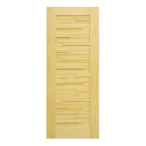 D2D ประตูไม้ สนนิวซีแลนด์ ขนาด100x200cm. D2D-501