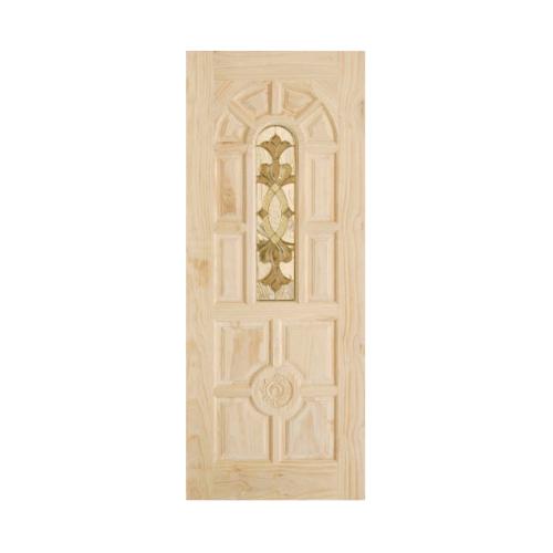 D2D ประตูไม้สนนิวซีแลนด์ ขนาด 90x220 cm. 415