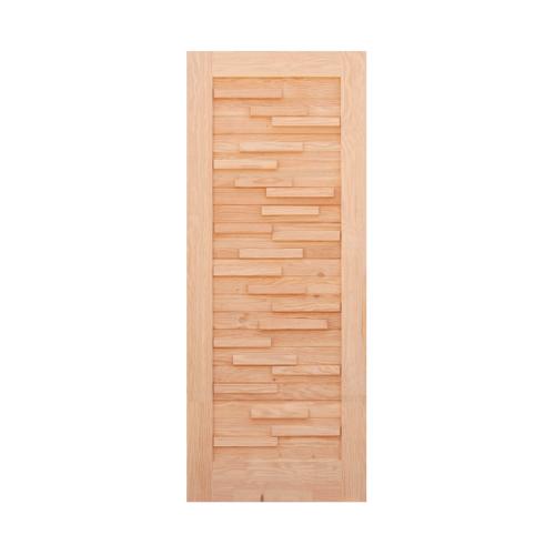 D2D ประตู ไม้ดักลาสเฟอร์ ขนาด 83x229.5 cm.  Eco Pine-030