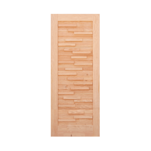 D2D ประตูไม้ดักลาสเฟอร์  ขนาด 101X228.5cm. Eco Pine-030