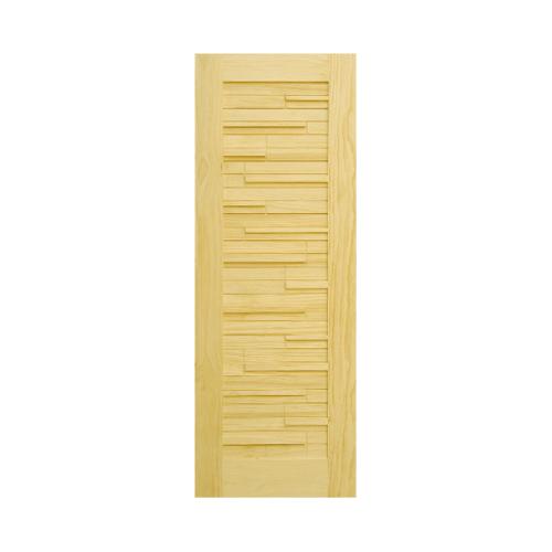D2D ประตูไม้สนนิวซีแลนด์ขนาด 80x220cm.  D2D-501