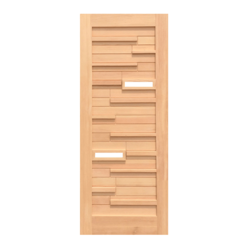 D2D ประตูไม้ดักลาสเฟอร์ ขนาด  80x200 ซม. Eco Pine - 034 Plus
