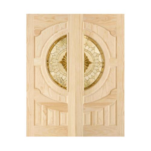 D2D ประตูไม้สนนิวซีแลนด์  ขนาด 80X200 ซม. 417