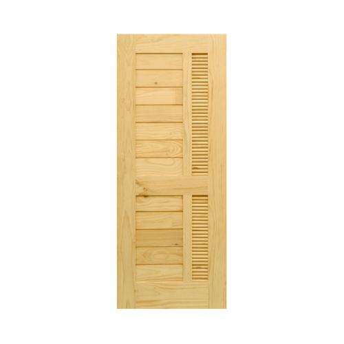 D2D ประตูไม้ดักลาสเฟอร์ ขนาด 100x220 cm. Eco Pine-019