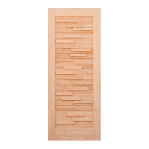 D2D ประตูไม้ดักลาสเฟอร์ขนาด  90x220 cm.  Eco Pine-030